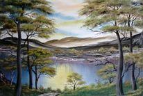 Landschaft, Malerei, Natur