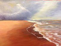 Nordsee, Wolken, Himmel, Malerei