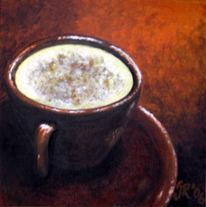 Malerei, Stillleben, Kaffee, Tasse