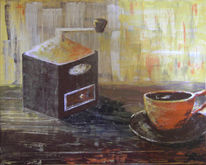 Kaffee, Stillleben, Acrylmalerei, Tasse