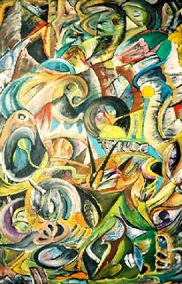 Malerei, Abstrakt, Organisch