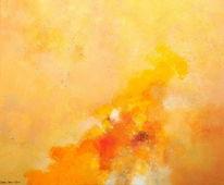 Wolken, Gelb, Meer, Wind