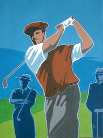 Golf, Malerei, Figural