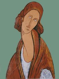 Modigliani, Druckgrafik, Klassik, Grafik