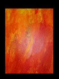 Abstrakt, Malerei, Innere, Wärme