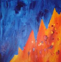 Abstrakt, Malerei, Kampf