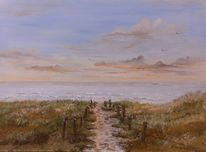 Strandweg, Dünen, Gemälde, Solingen