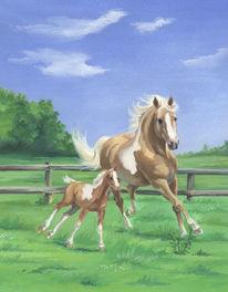 Malerei, Insel, Pony