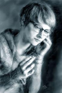 Gegenwartskunst, Portrait, Telefon, Fön