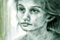 Liebe, Gegenwartskunst, Portrait, Wasser