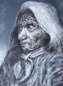 Portrait, Malerei, Gesicht, Figural