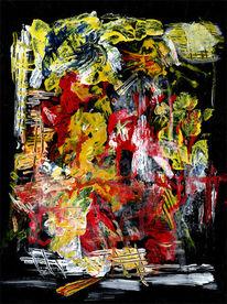 Figur, Sad angel, Dunkel, Malerei
