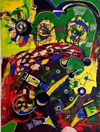 Beobachtung, Freiheit, Abstrakt, Malerei