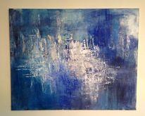 Blau, Wasser, Meer, Acrylmalerei