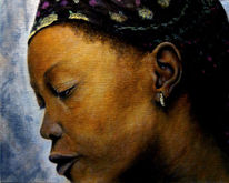 Klassisch, Portrait, Gemälde, Ölmalerei