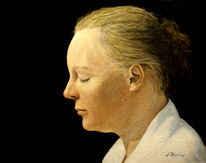 Acrylmalerei, Sonne, Portrait, Klassisch