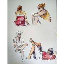 Skizze, Figur, Zeichnzng, Berlin