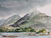 Connemara, See, Regen, Irland