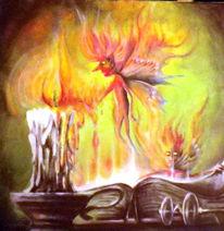 Acrylmalerei, Magie, Feuer, Kerzen