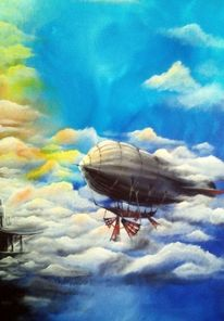 Luftballon, Segel, Luftschiff, Gondel