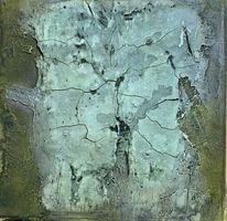 Marmormehl, Pigmente, Acrylmalerei, Grün