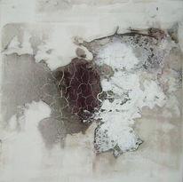 Marmormehl, Beize, Ölmalerei, Schwarz weiß