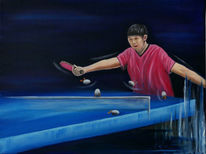 Ping pong, Ei, Tischtennis, Tischtennisspieler