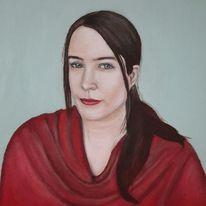 Portrait, Rot, Ego, Augen