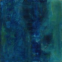 Grün, Dunkel, Blau, Malerei