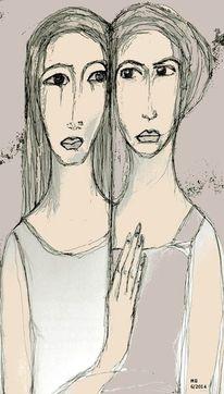 Hand, Nähe, Ruhe, Mischtechnik