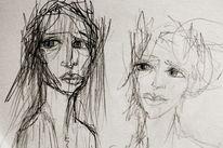 Empathie, Blick, Menschen, Zeichnungen