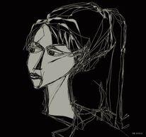 Hommage, Picasso sylvette, Zeichnungen