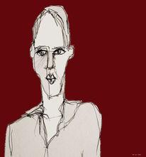 Behelligte, Hohe stirn, Zeichnungen
