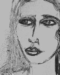 Blick, Skizze, Augen, Zeichnungen