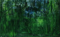 Blau, Wald, Weg, Grün