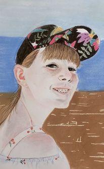 Strand, Portrait, Malerei,