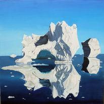 Kalt, Stille, Eisberg, Einsamkeit