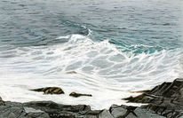 Felsenküste, Neuseeland, Meer, Wasser