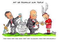 Rummenigge, Karikatur, Ribery, Bayern münchen