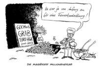 Karikatur, Politik, Verteidigung, Maiziere