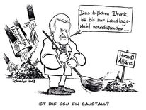 Hoeneß, Seehofer, Karikatur, Cartoon