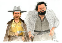 Cartoon, Bud spencer, Western, Karikatur