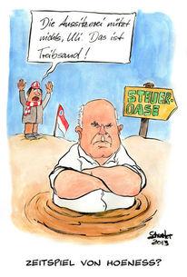 Cartoon, Bayern münchen, Hoeneß, Karikatur