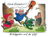 Karikatur, Bundestag, Cartoon, Gysi