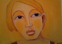 Gelb, Frage, Skeptisch, Malerei