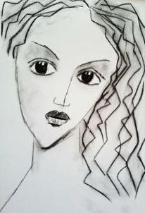 Akt, Kritzelei, Nachdenklich, Zeichnungen