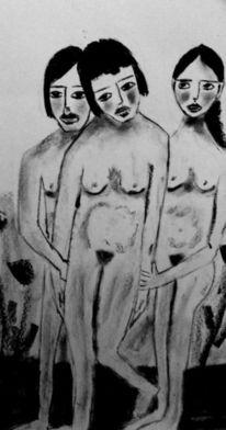 Angst, Verzweiflung, Trauer, Zeichnungen