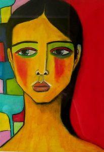 Rot, Schwarz, Pastellmalerei, Zeichnungen