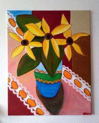 Gelb, Sommer, Blumen, Malerei