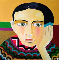 Gedanken, Blick, Bunt, Malerei